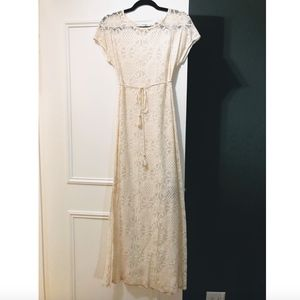 Lace maxi dress from Anthropologie
